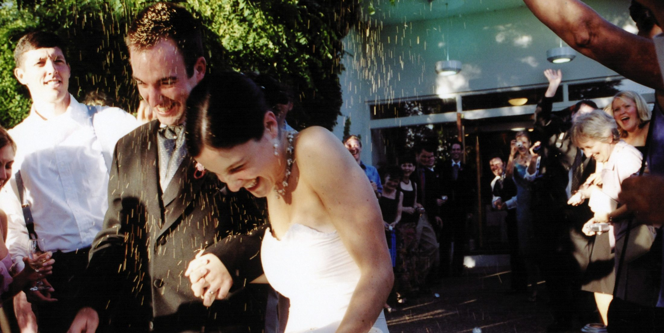 Shawn and Marjorie Brimley at their wedding in Oregon