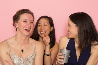Kristin, Christine and Marjorie laughing