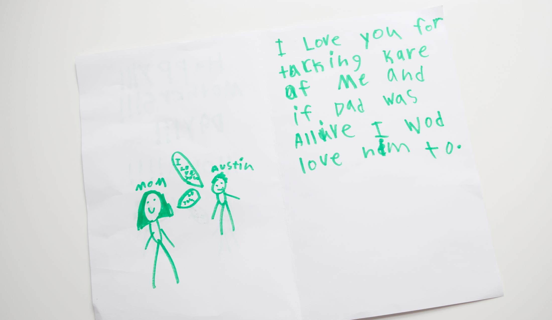 Austin Brimley Mother's Day card