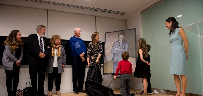 Shawn Brimley's family at the CNAS portrait dedication in DC