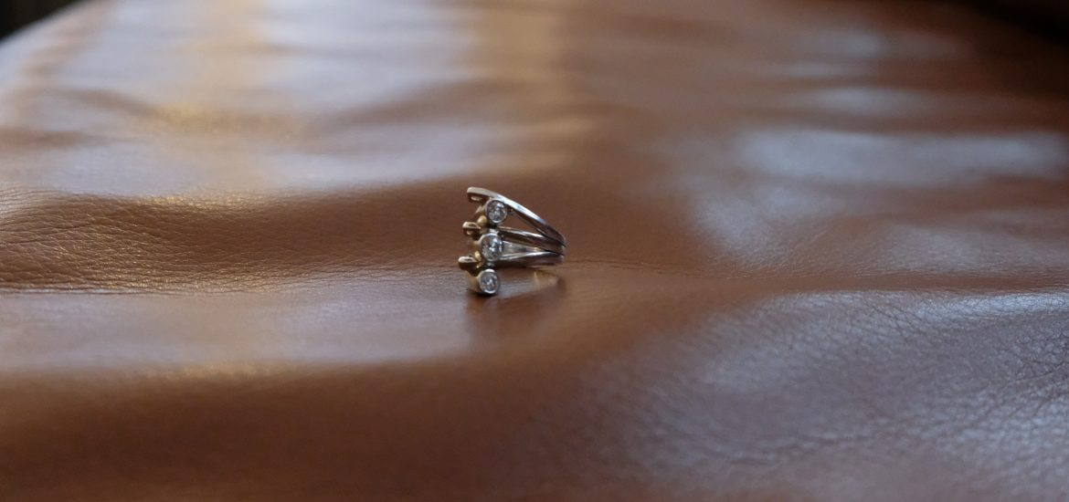 Wedding ring of Marjorie Brimley DC widow blog writer that was remade into a cocktail ring
