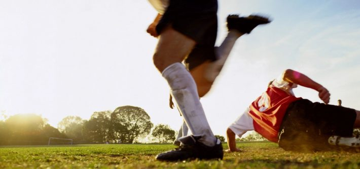 Soccer players kick the ball just like DC widow blog writer Marjorie Brimley did in post