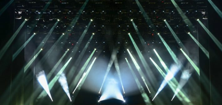 Image of concert lights similar to that at concert by Zoe Keating attended by DC widow blog writer Marjorie Brimley