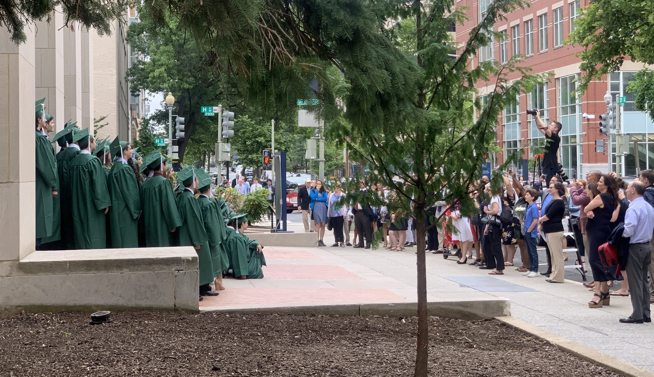 Graduating class of school where DC widow blog writer Marjorie Brimley delivered commencement address