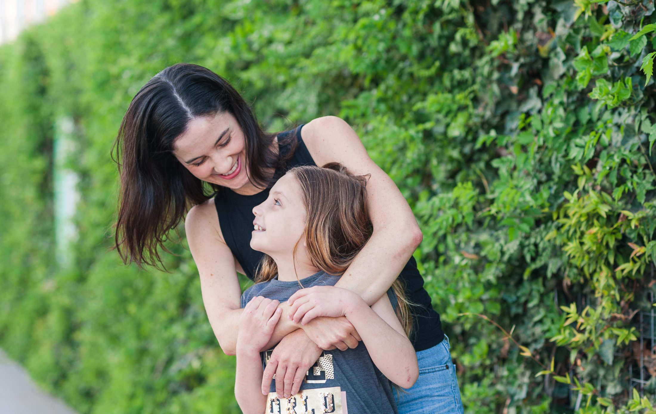 DC widow blog writer Marjorie Brimley and daughter Claire smile at each other