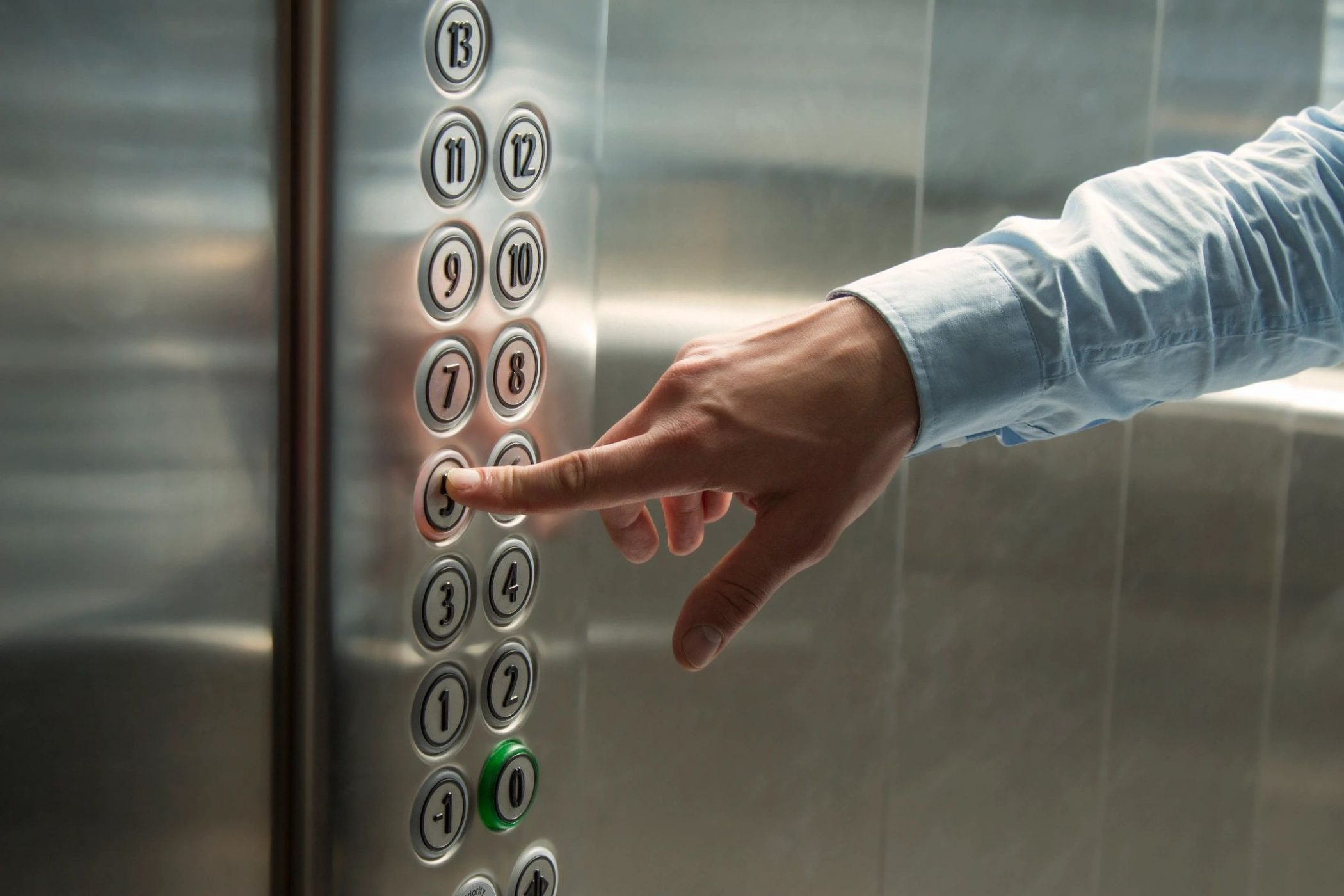 Elevator man similar to that in story by DC widow blog writer Marjorie Brimley