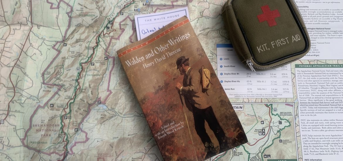 Thoreau book on map belonging to husband of DC widow blog writer Marjorie Brimley