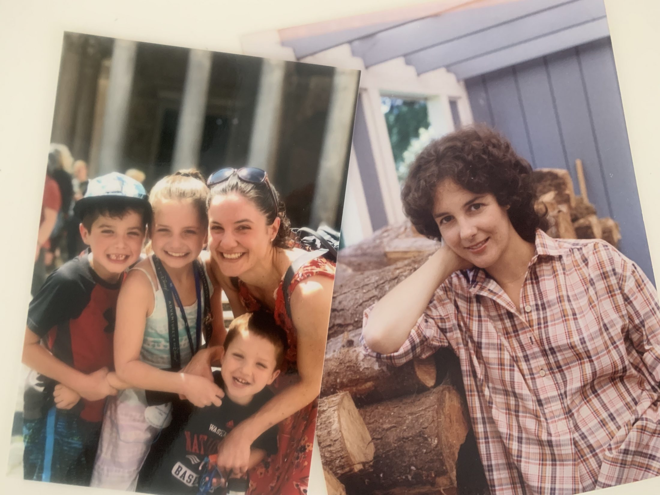 2 photos of the family of DC widow blog writer Marjorie Brimley