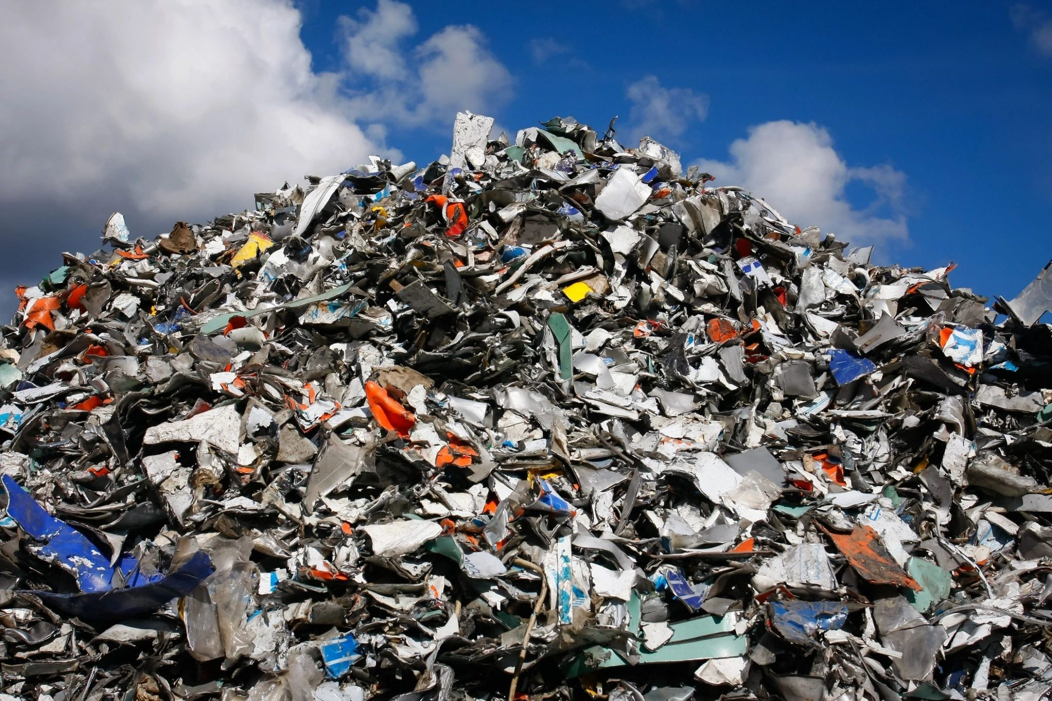 Pile of trash similar to that visited by DC widow blog writer Marjorie Brimley