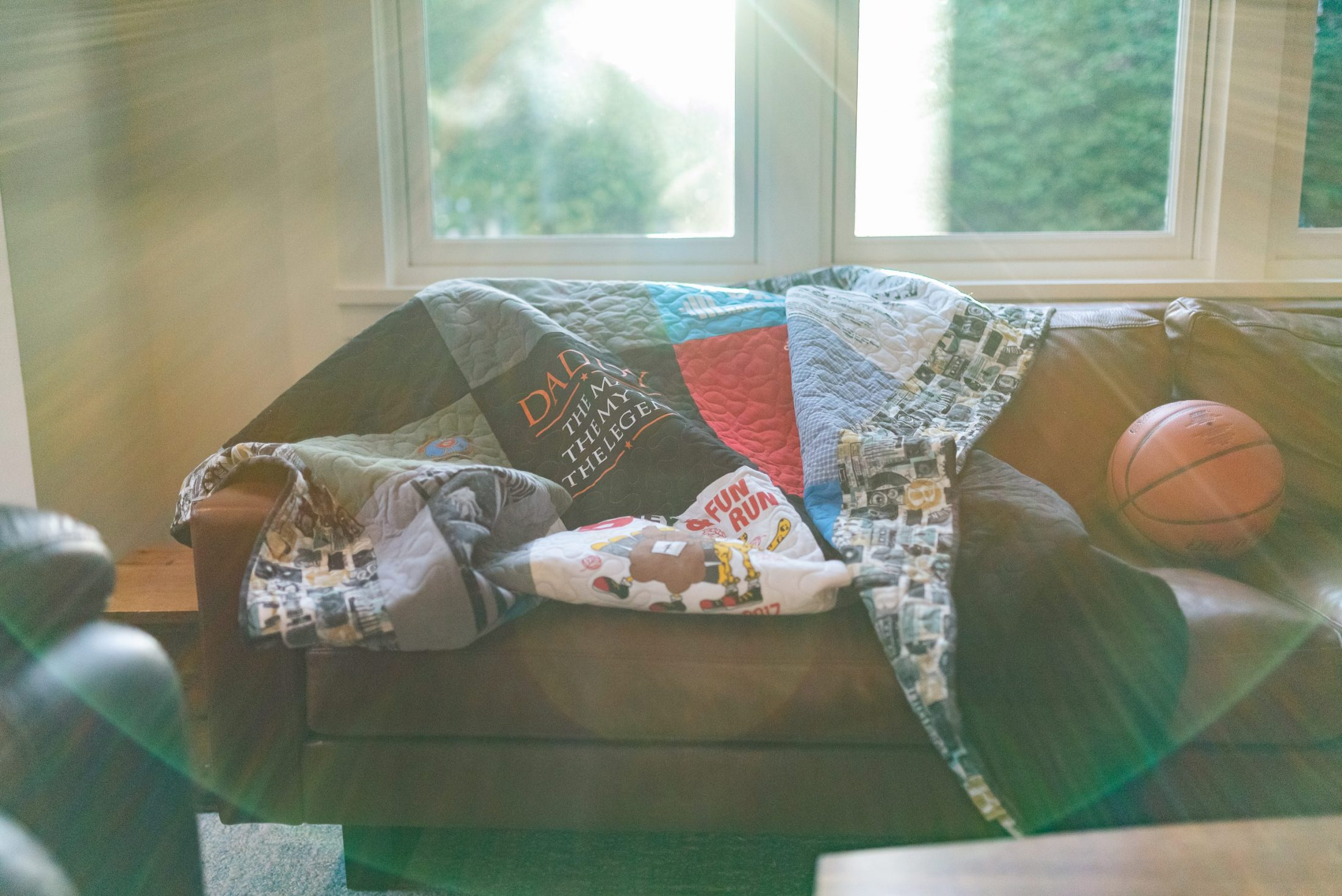 Sunshine streaming in living room of DC widow blog writer Marjorie Brimley