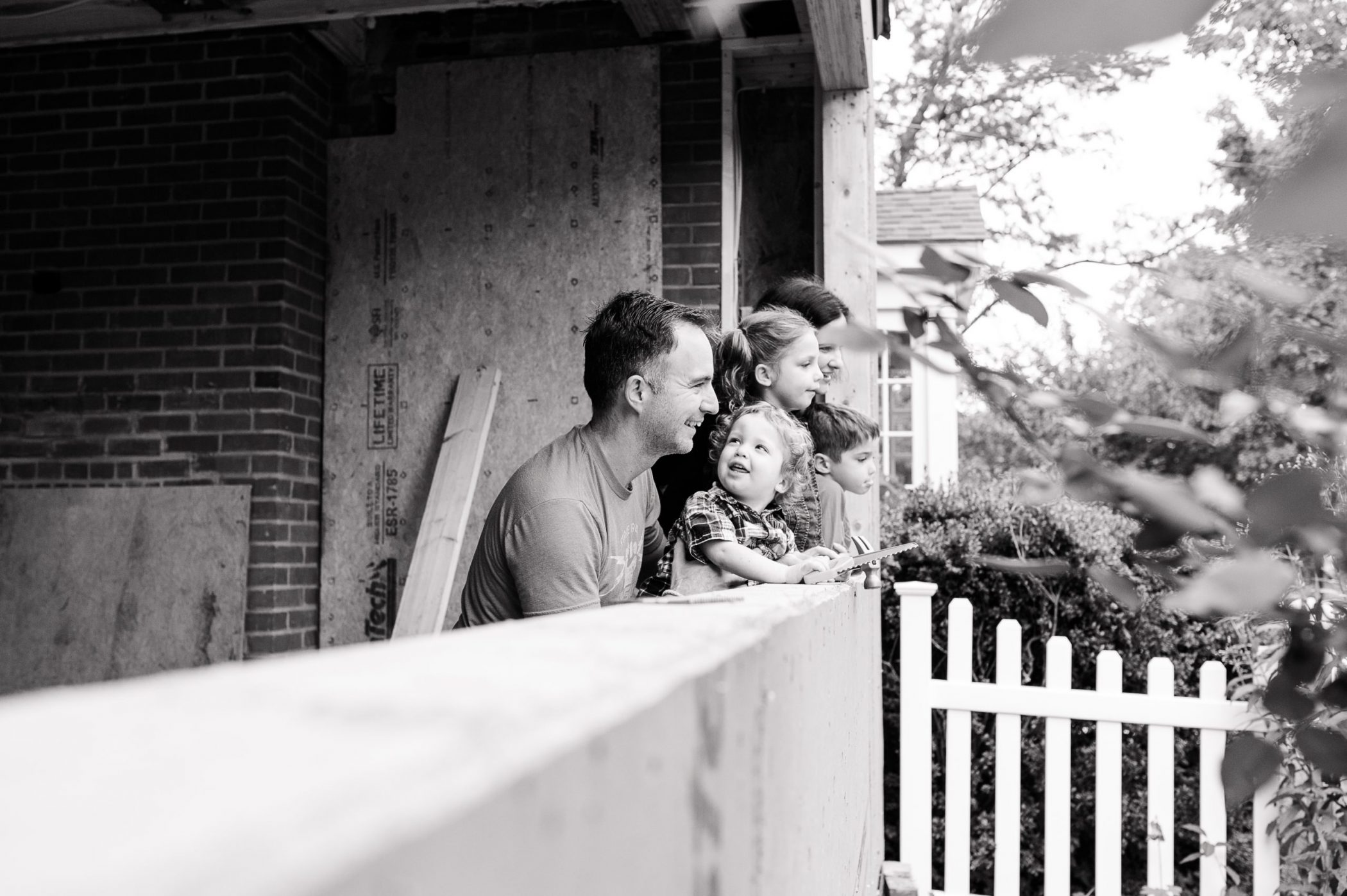 Family of DC widow blog writer Marjorie Brimley in black and white
