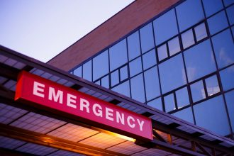 Emergency room sign like that described by DC widow blog writer Marjorie Brimley