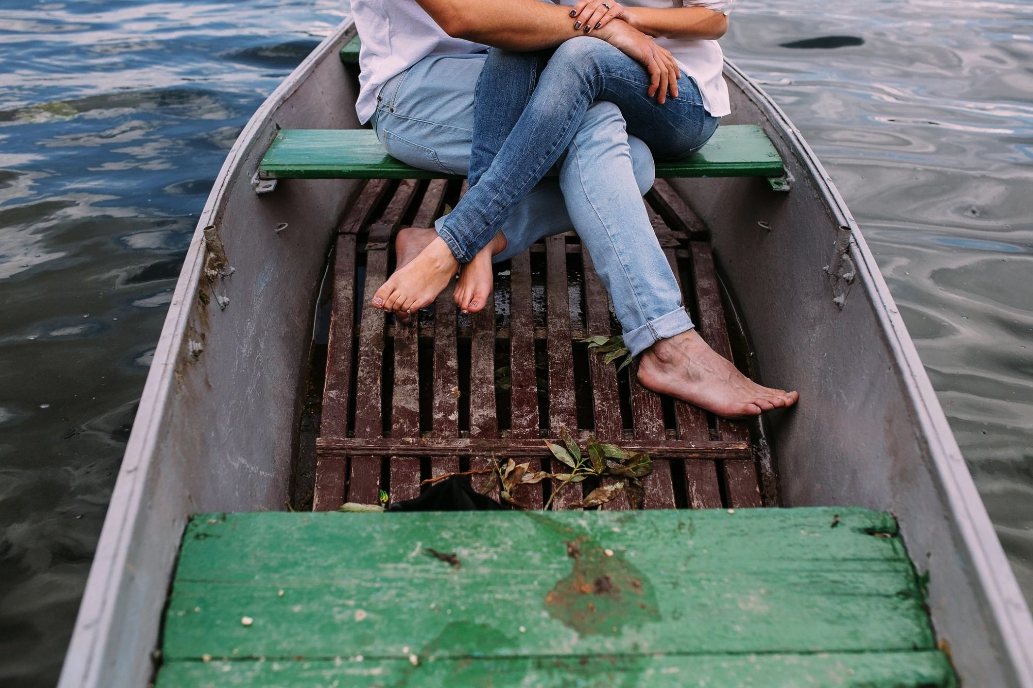 couple in boat like DC widow blog writer Marjorie Brimley writes about