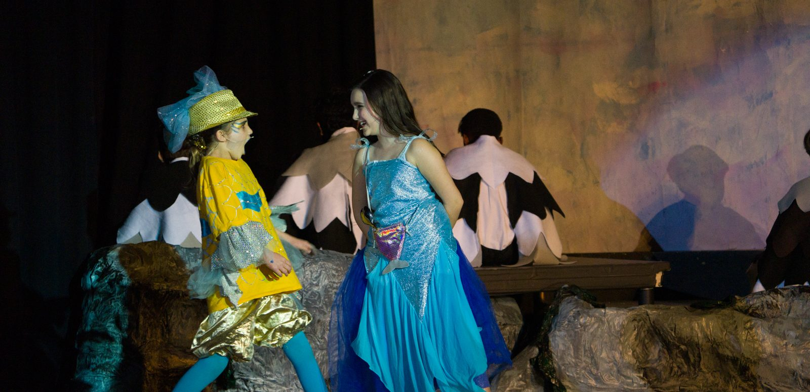 DC widow blog writer Marjorie Brimley's daughter, Claire, performs in the Little Mermaid as Flounder