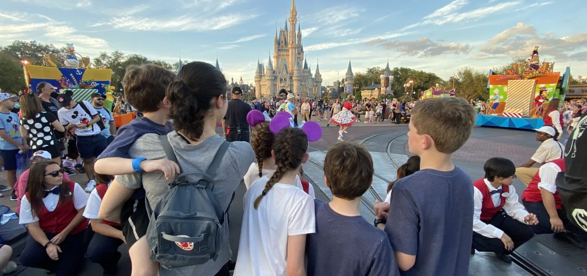 DC widow blog writer Marjorie Brimley faces DisneyWorld castle with children
