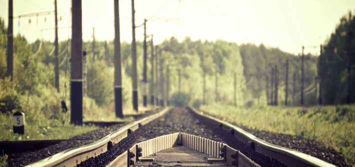 Railroad tracks like that discussed by DC widow blog writer Marjorie Brimley