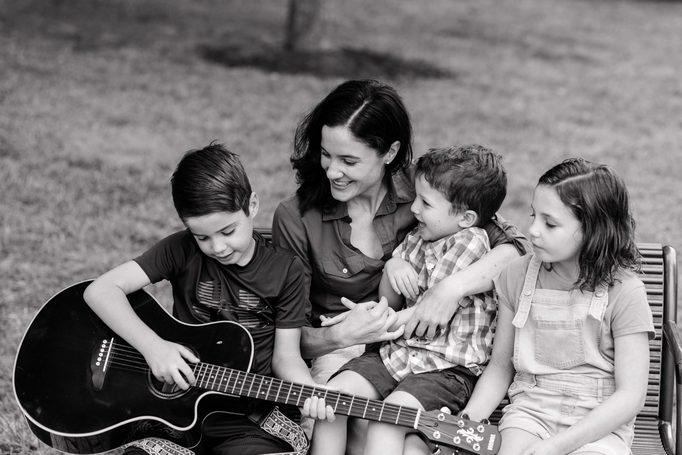 Black and white image of family of DC widow blog writer Marjorie Brimley
