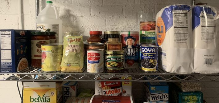 Pantry of DC widow blog writer Marjorie Brimley