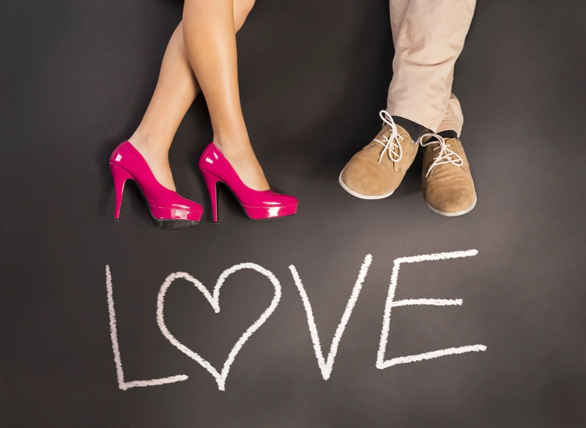 Two pairs of legs with word love for blog by DC widow Marjorie Brimley