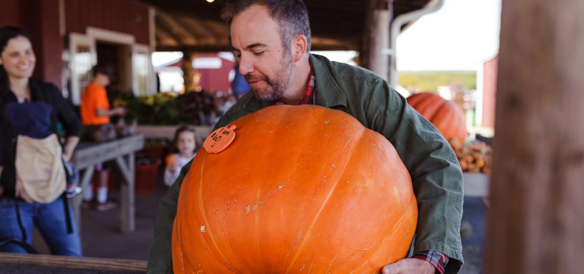Husband of DC widow blog writer Marjorie Brimley lifts massive pumpkin
