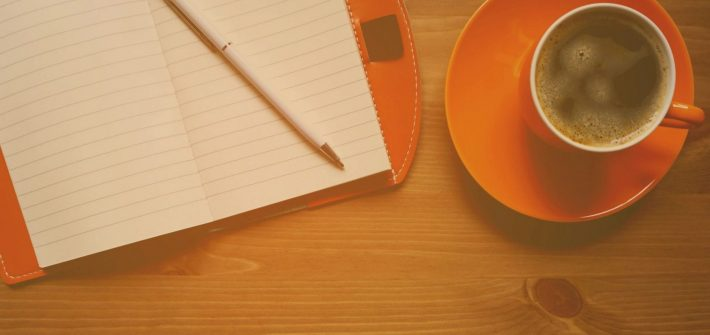 Paper and coffee