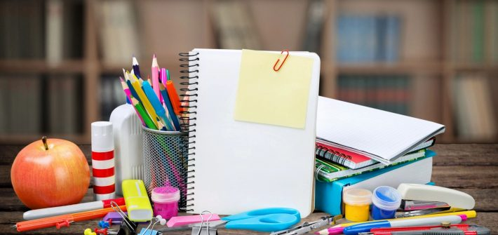 School supplies for blog by DC widow writer Marjorie Brimley