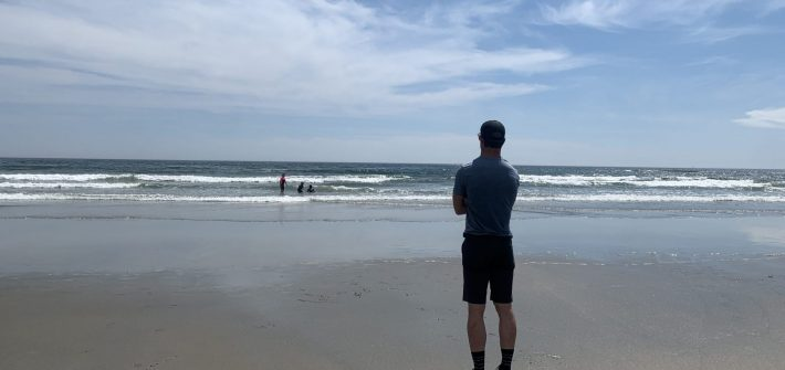 Boyfriend of DC widow blog writer Marjorie Brimley watches children in ocean