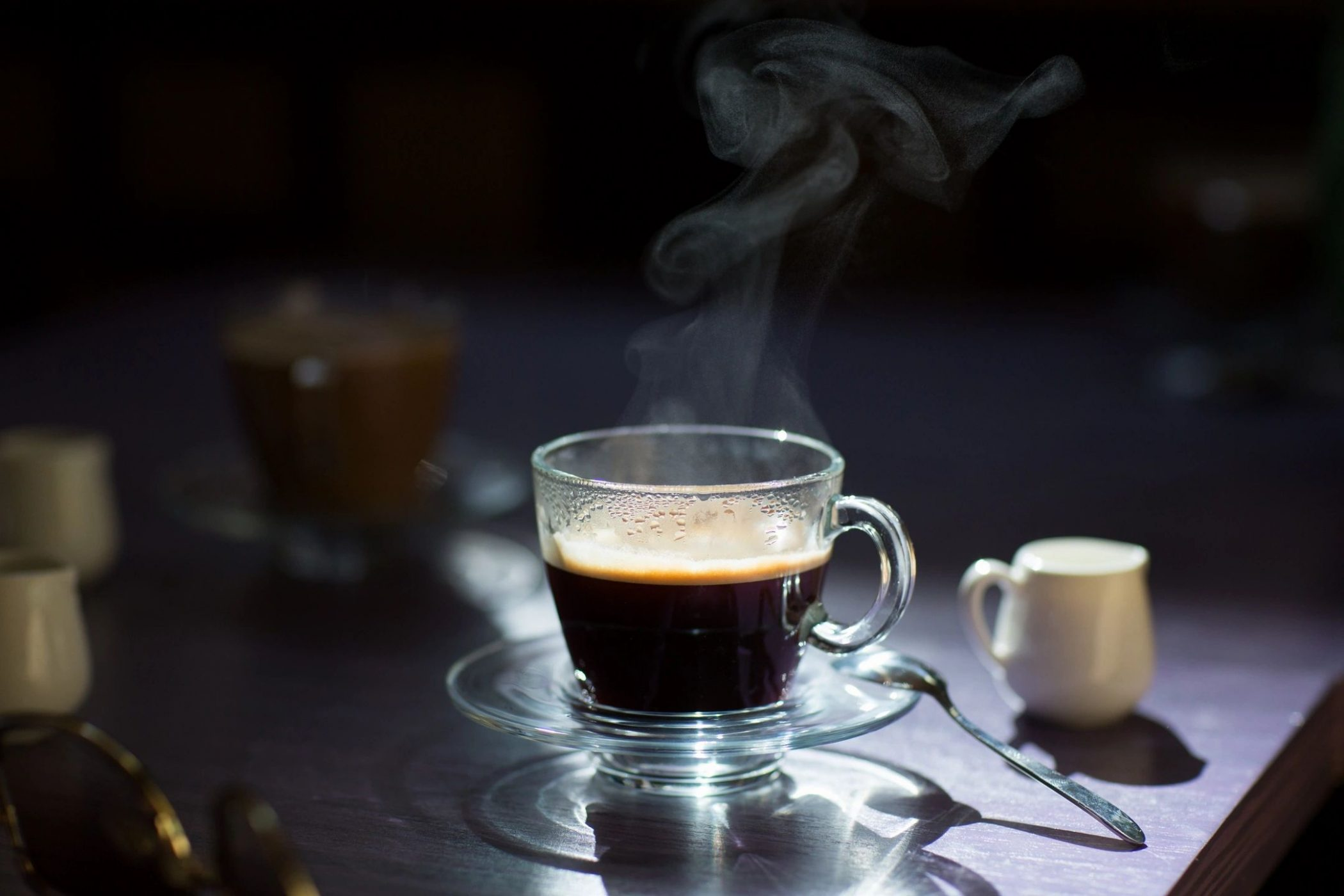 Steaming coffee cup for blog by DC widow writer Marjorie Brimley
