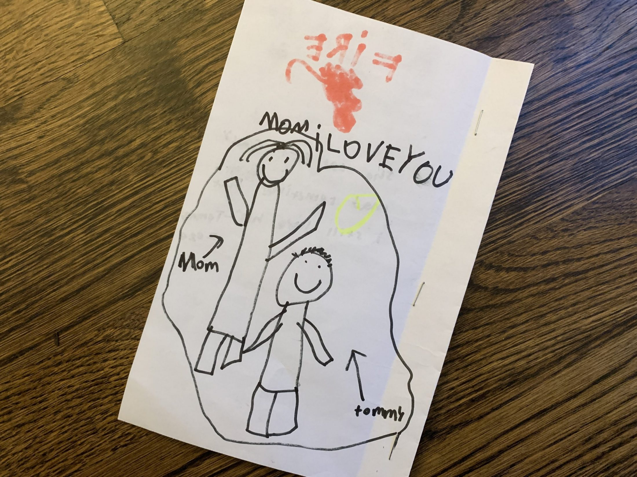 Tommy's drawing of mom for DC widow blog writer Marjorie Brimley