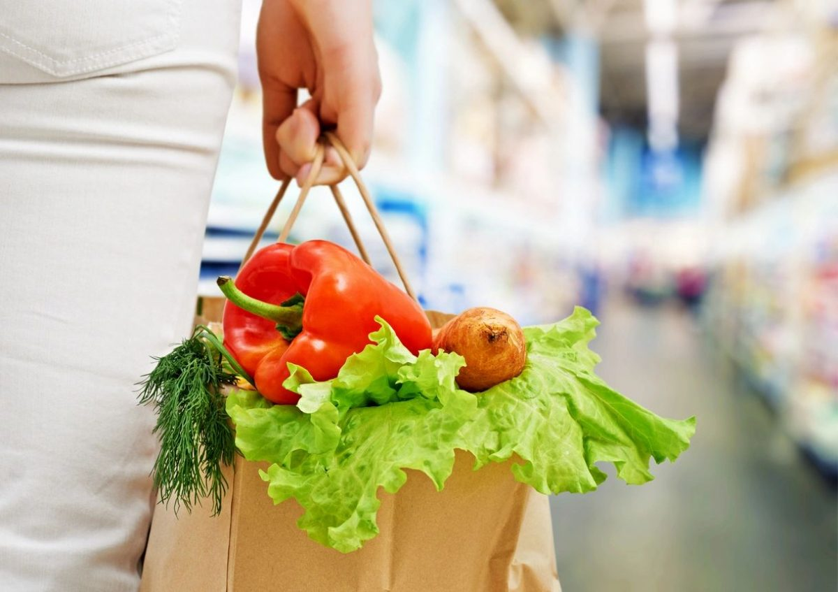 Grocery bag for blog by DC widow writer Marjorie Brimley