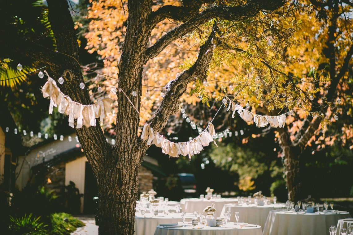 Fall leaves at wedding for blog by DC widow writer Marjorie Brimley